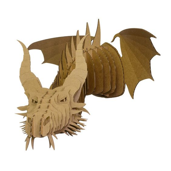 Large Dragon 3d puzzle  cut wood diy akz.vn