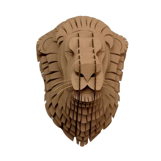 Lion  3d puzzle  cut wood diy akz.vn