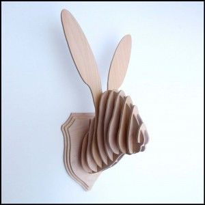 Rabbit  3d puzzle  cut wood diy akz.vn