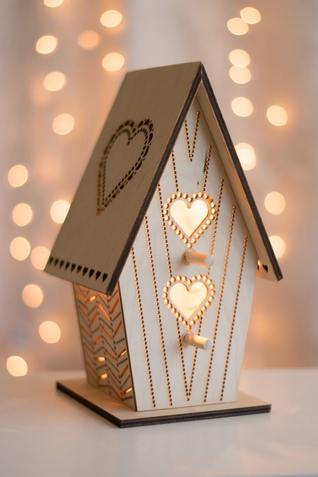 Đèn gỗ DIY 01080