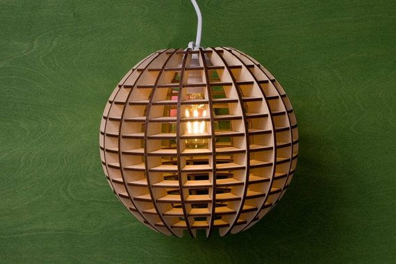 Đèn gỗ DIY 0475