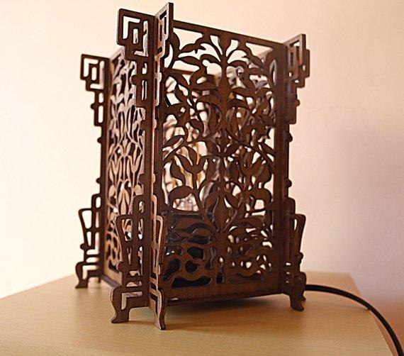 Đèn gỗ DIY 0912