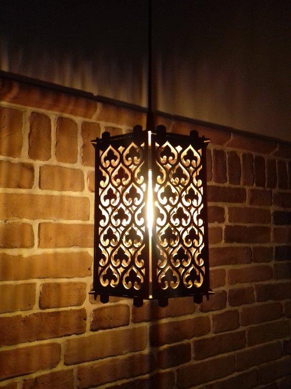 Đèn gỗ DIY 0969