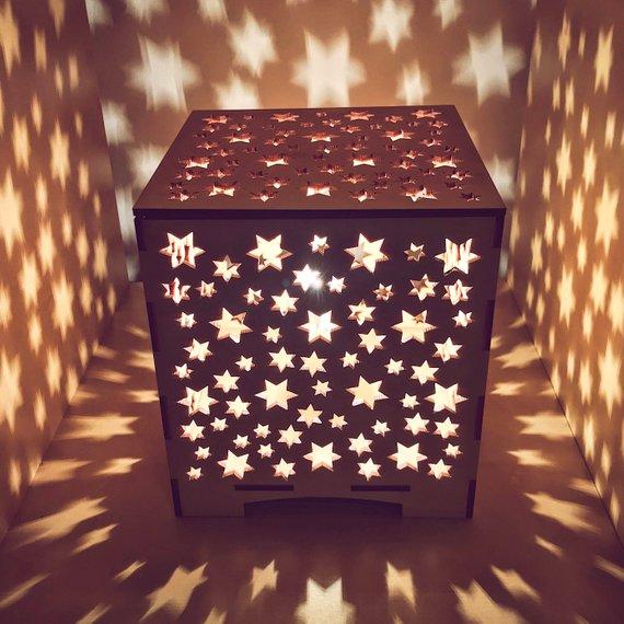 đèn hộp ngôi sao