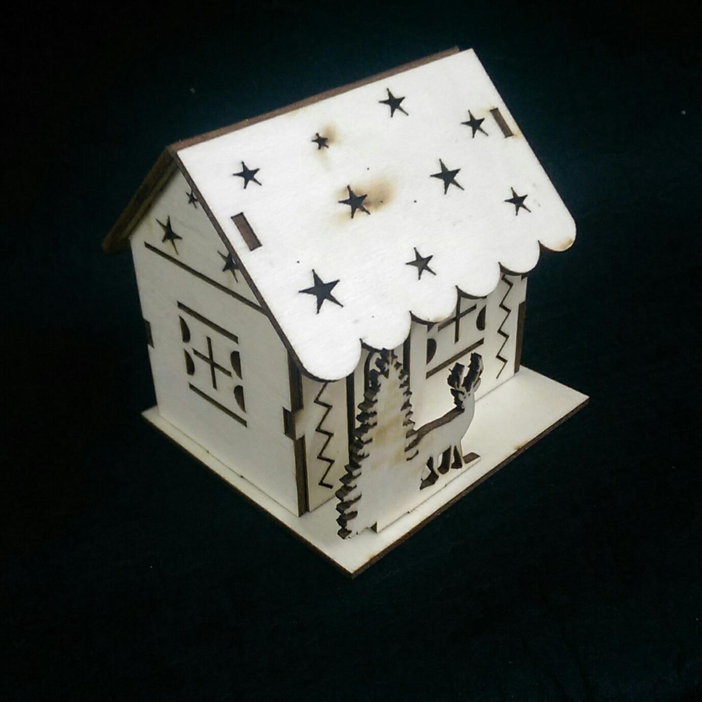 Ngôi nhà tuyết 3d puzzle