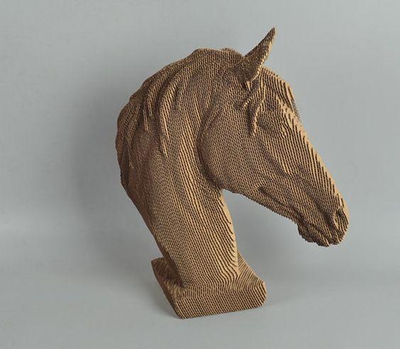 horse  head   diy 3d puzzle head