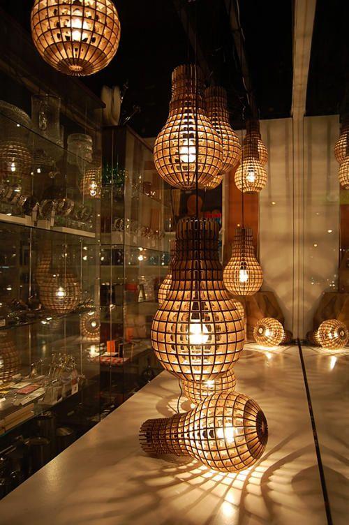 Đèn gỗ dáng bóng đèn, đèn quả bóng đèn