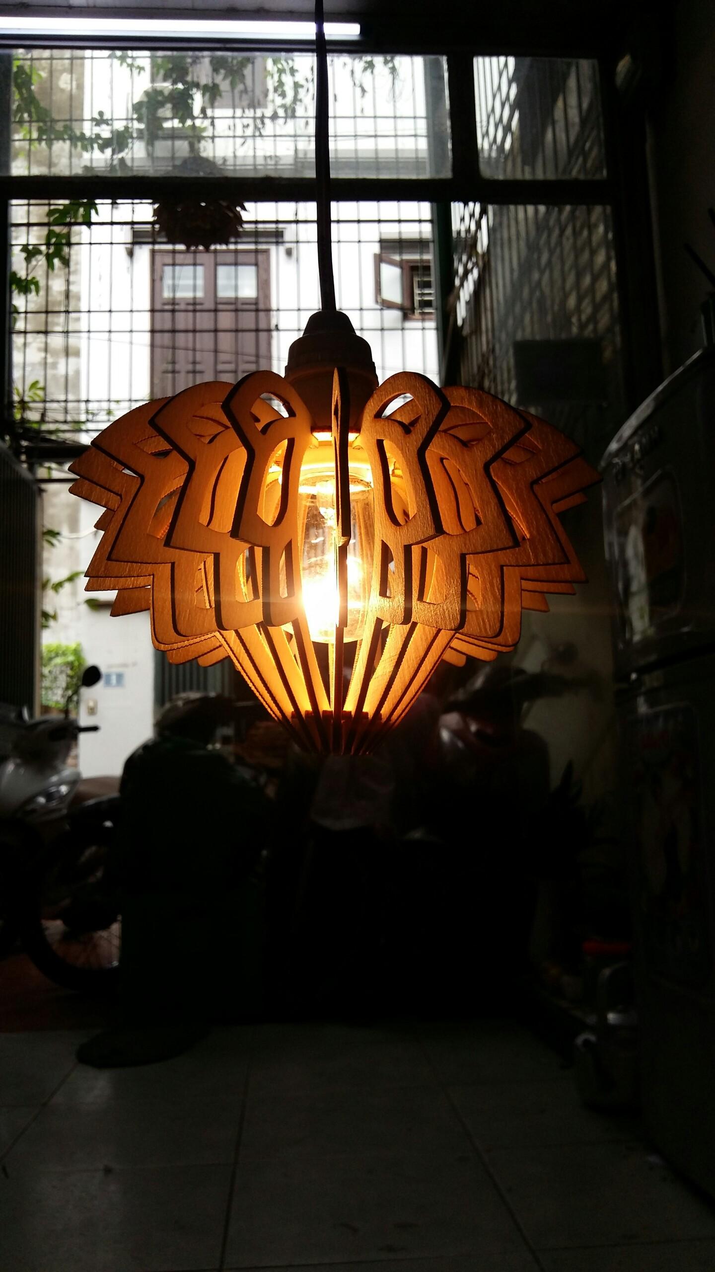 Chụp đèn  DIY 040  đèn hoa sen