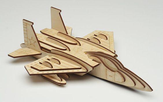 F 15  wooden 3d puzzle