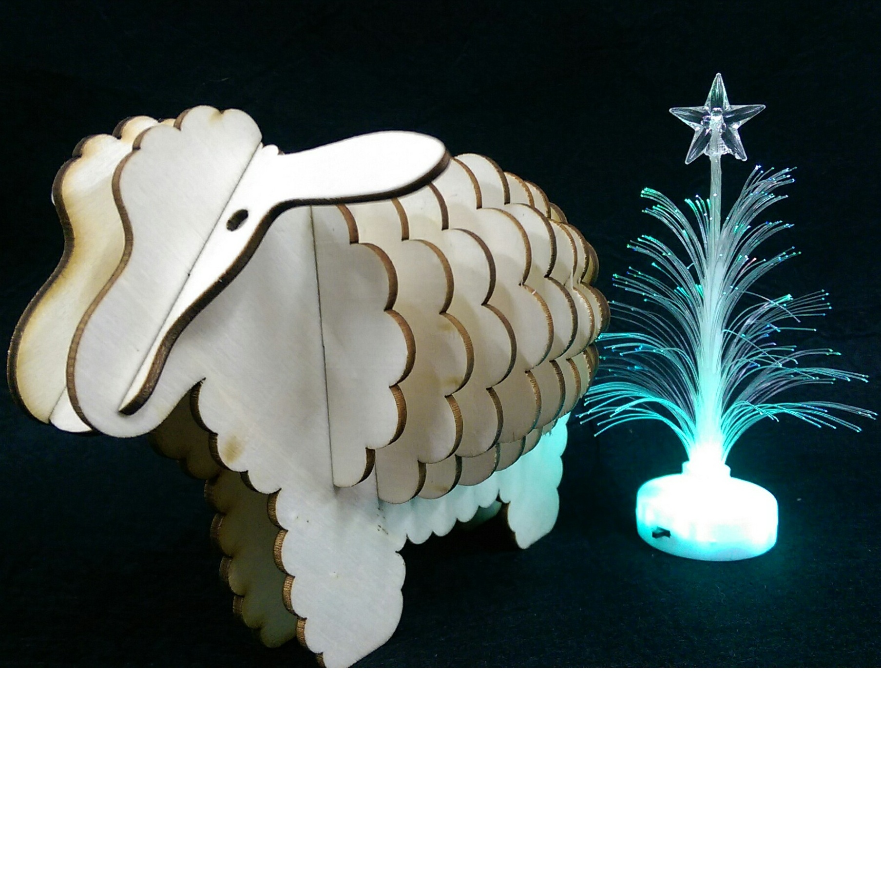 con cừu trắng 3d puzzle