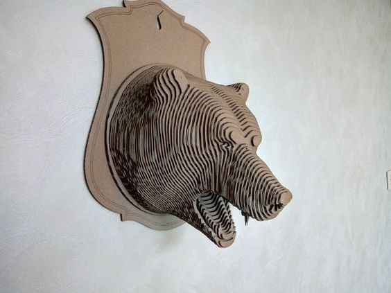 Bear 1 3d puzzle   cut wood diy wooden
