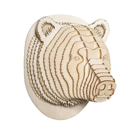 Bear 3d puzzle   cut wood diy wooden