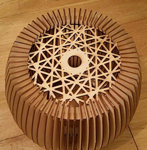 Beautifully Detailed Wooden Natural Lampshade