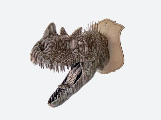 Ceratosaurus 3d puzzle  cut wood diy wooden