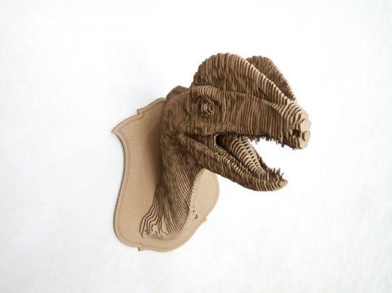 Dilophosaurus 3d puzzle  cut wood diy wooden akz.vn