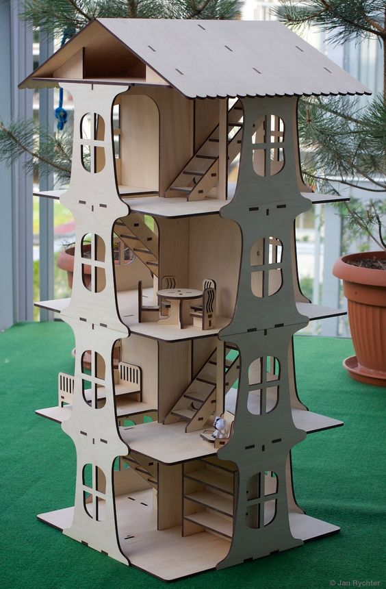 Dollhouse built from