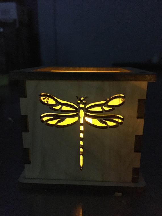 Dragonfly Tea Light Holder