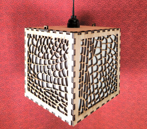 Dragonfly Wing laser cut wood Shoji lamp