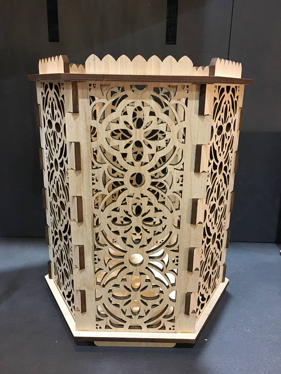Gothic Throne Room - Hexagon Candle Holder