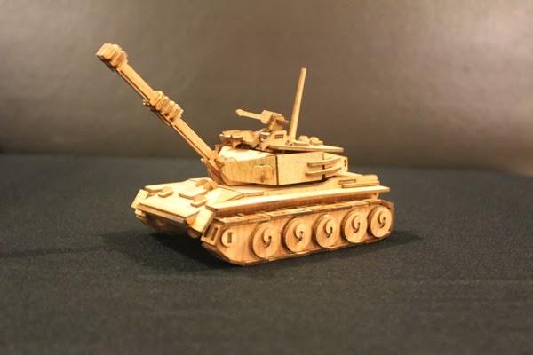 tank  wooden 3d puzzle