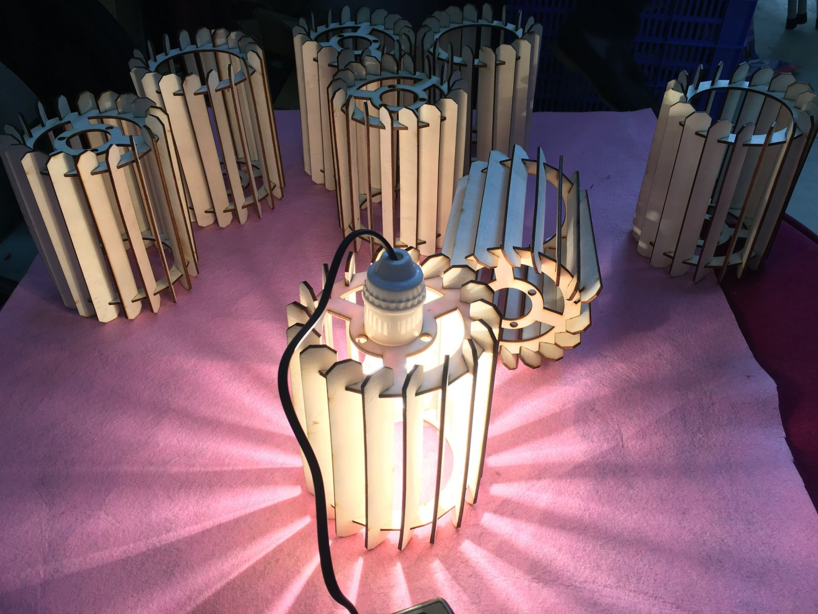 Đèn gỗ DIY trang trí
