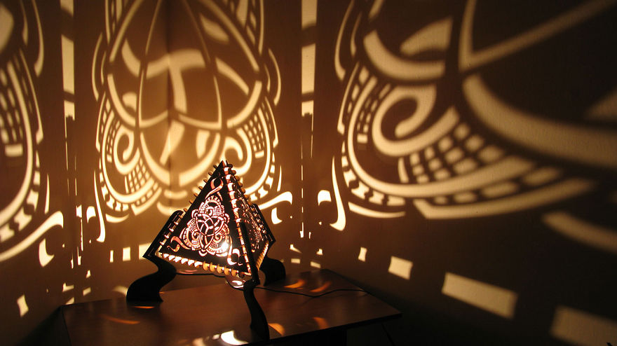 Laser-Cut Shadow Lamps 2