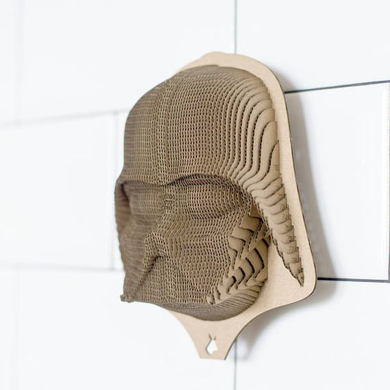 Lord Vader mask on the wall Star Wars 3d puzzle  cut wood diy