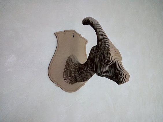 Parasaurolophus  3d puzzle  cut wood diy wooden akz.vn