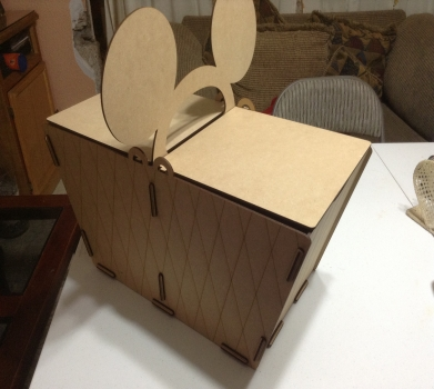 Picnic basket  box with mouse ears