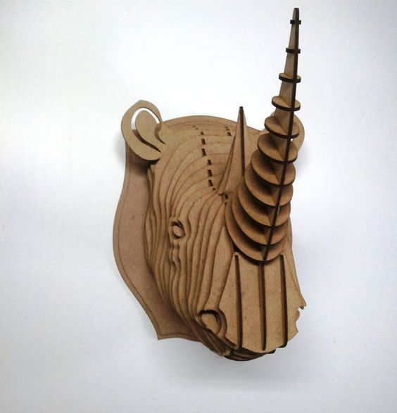 Rhino  3d puzzle  cut wood diy
