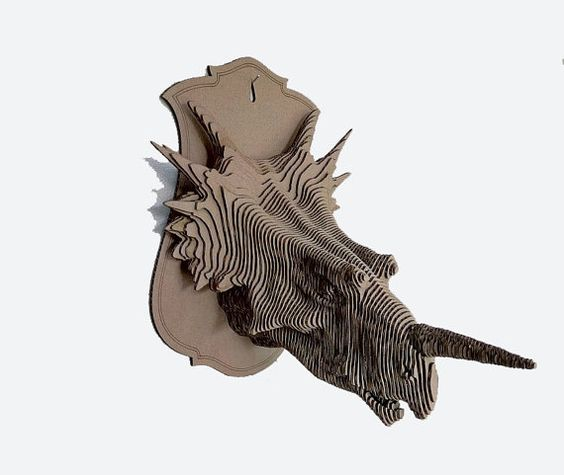 Styracosaurus 3d puzzle  cut wood diy wooden