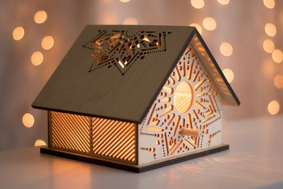 Sunbeam Birdhouse Night Light