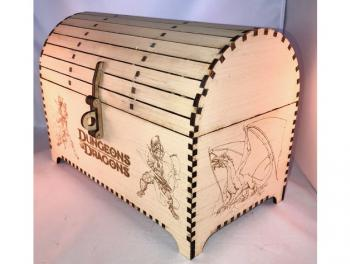 Treasure Chest 5mm Plywood with Clasp and Hinges