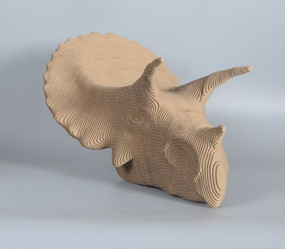 Triceratops 3d puzzle  cut wood diy akz.vn