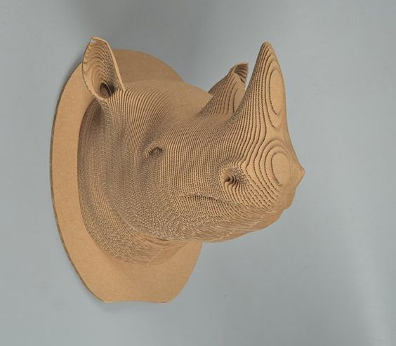 head  Rhino diy 3d puzzle head