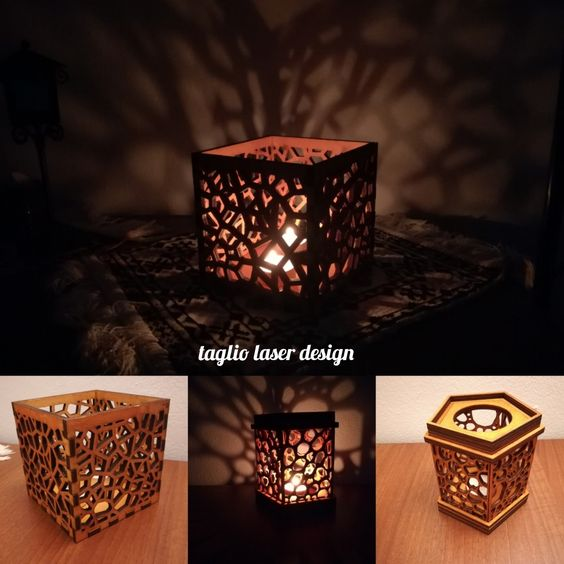 candles laser cut 006 x5 item