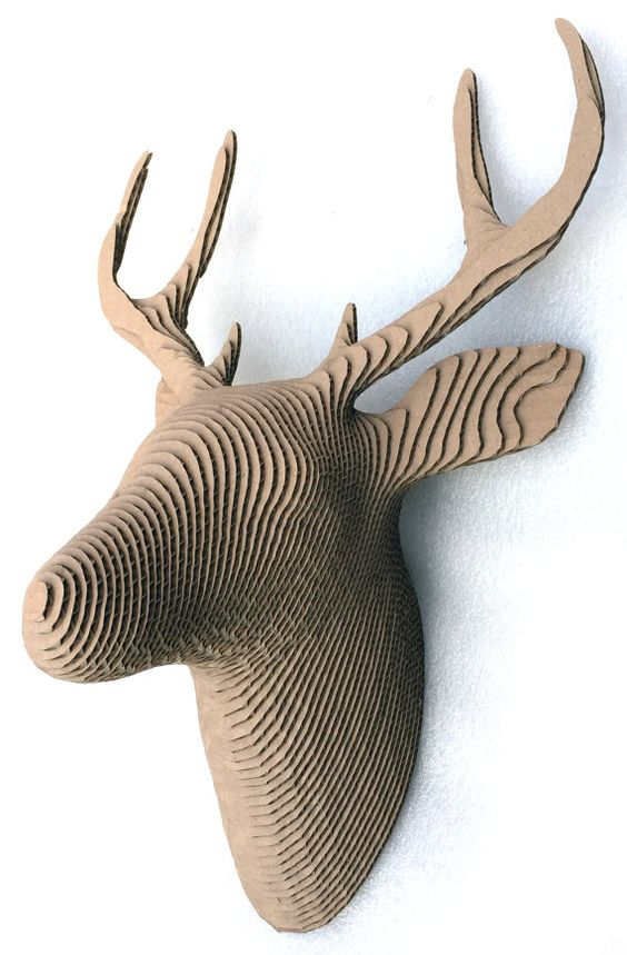 deer 3d puzzle  cut wood diy wooden