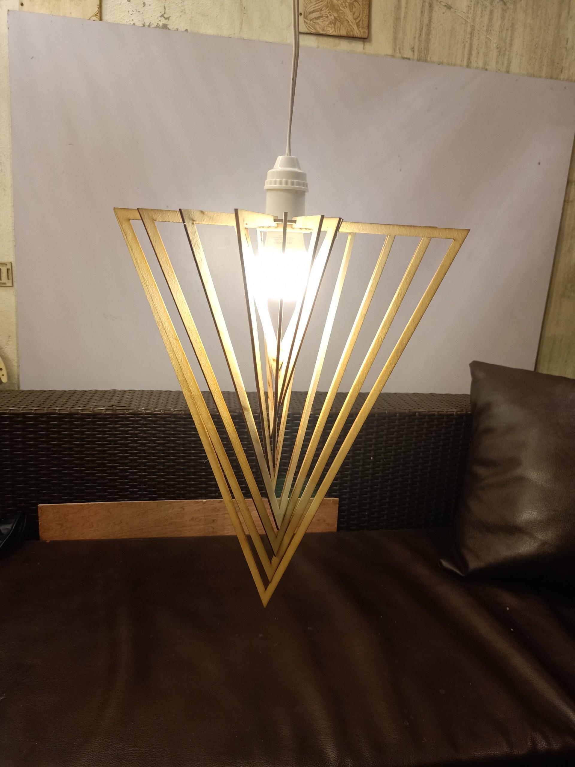 Chao đèn  kim cương 3D