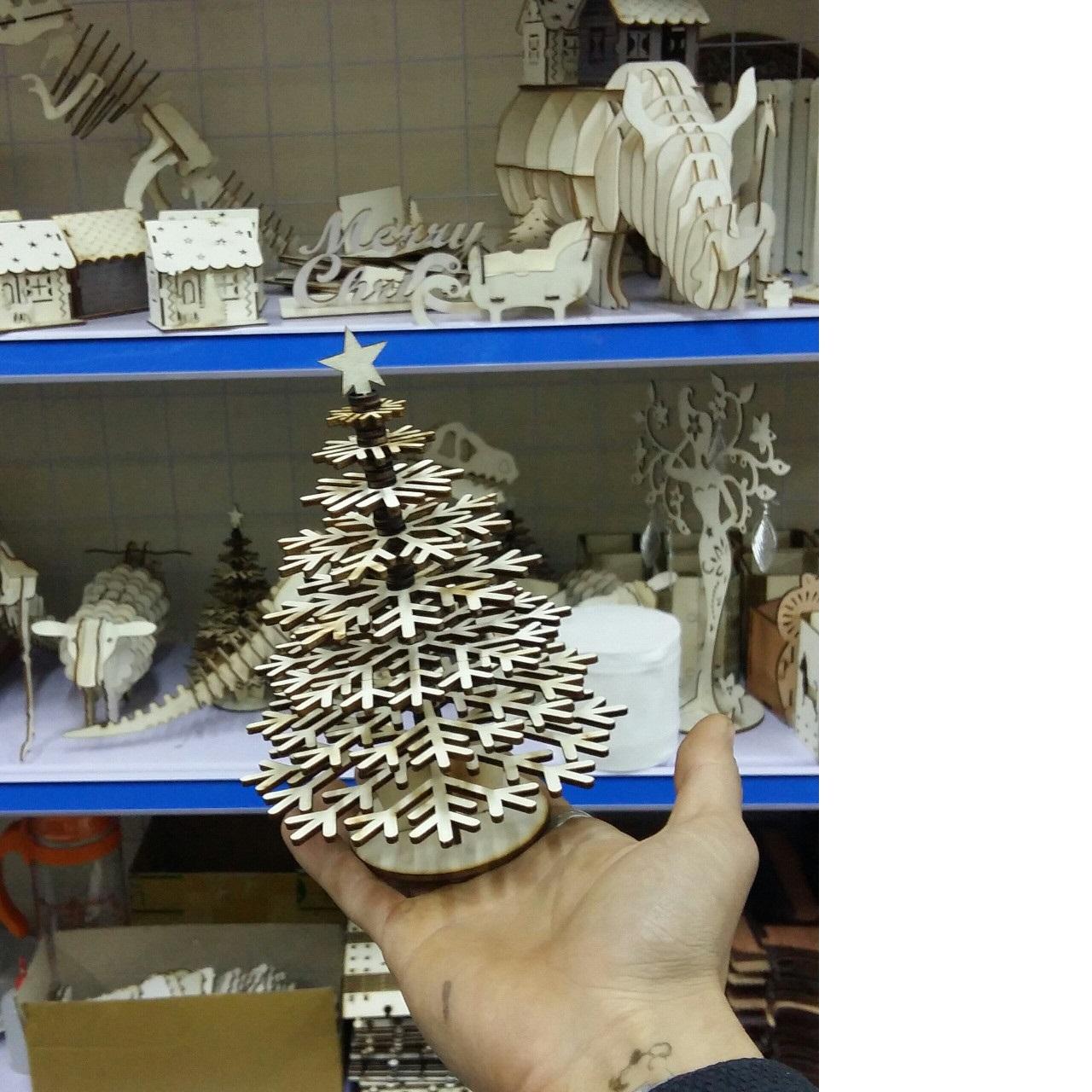 cây thông 3d puzzle