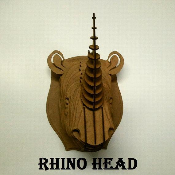 head Rhino  3d puzzle  1