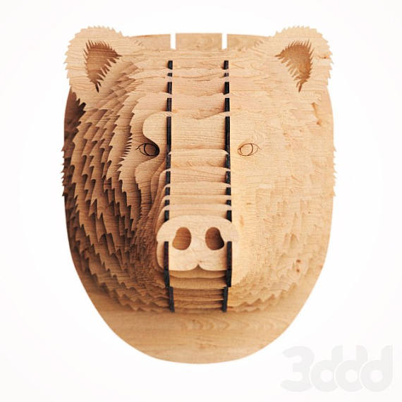 Head Bear  3d puzzle