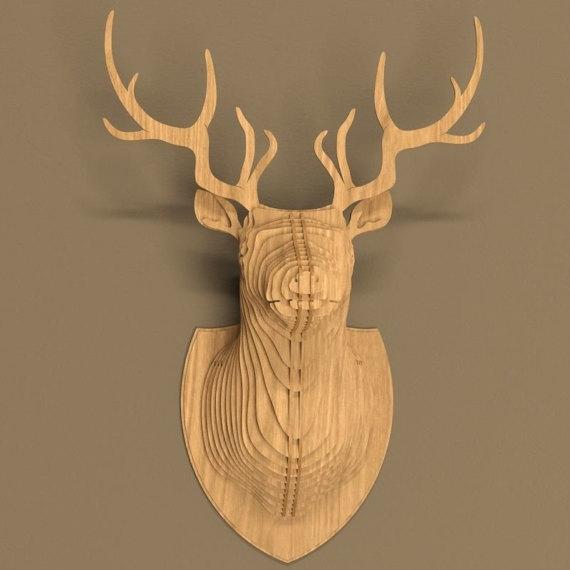 head Deer 3d puzzle