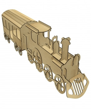 head train DIY wooden 3d puzzle