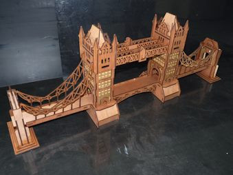 Bridge Tower   DIY wooden 3d puzzle
