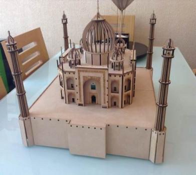 Taj Mahal DIY wooden 3d puzzle