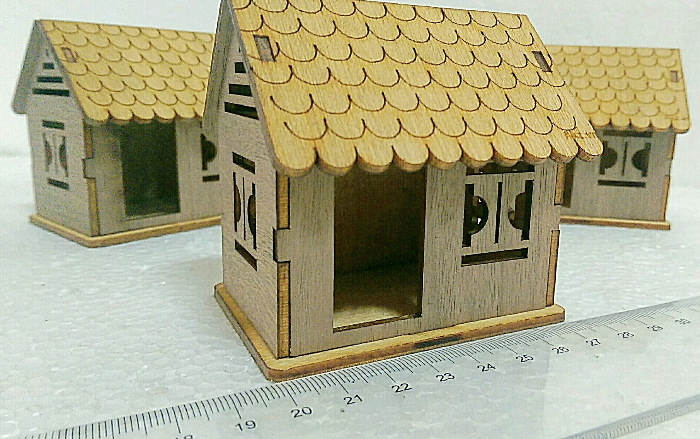 house mini 7 piece 3d puzzle , diy wooden