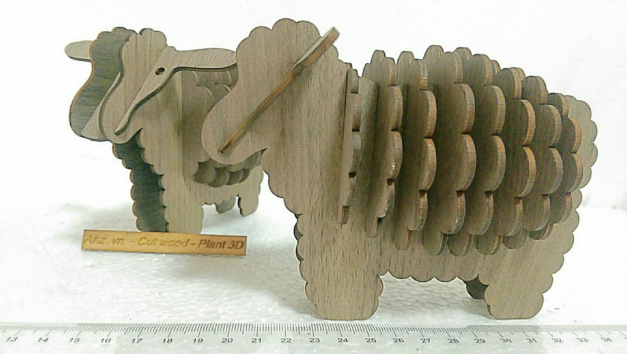 con cừu đa năng 3d puzzle , diy wooden