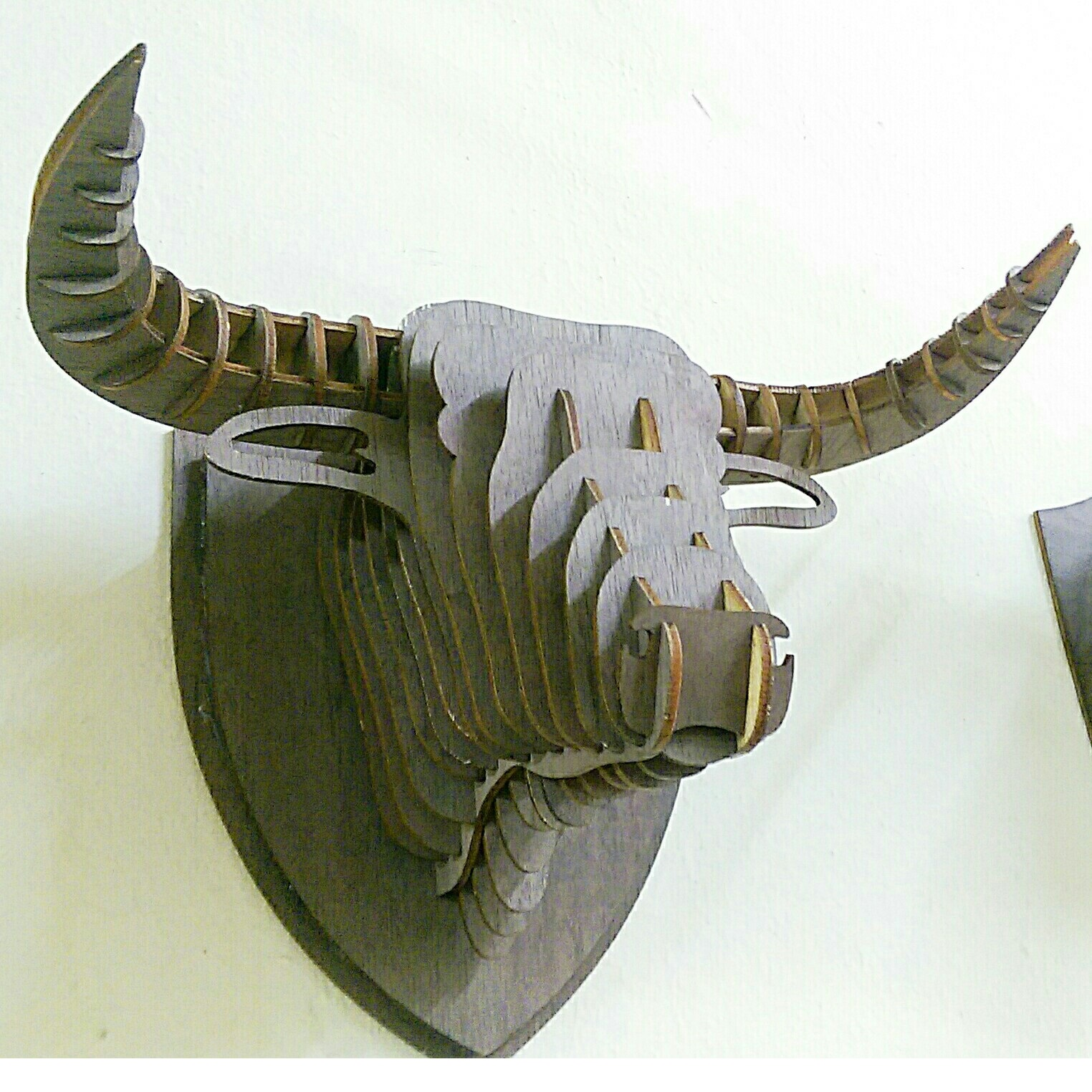 head bull 3d puzzle , diy wooden