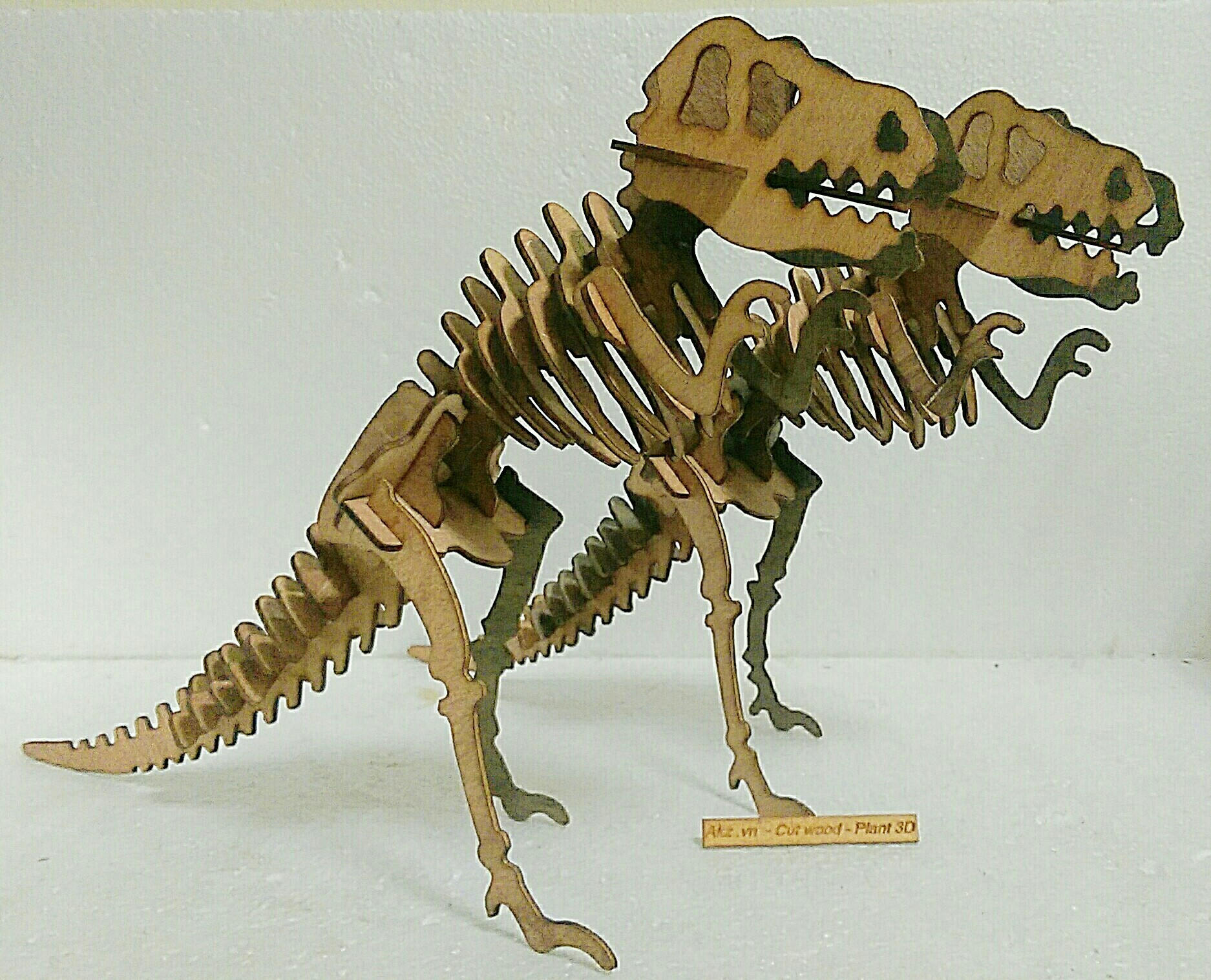 T rex   3d puzzle , diy wooden